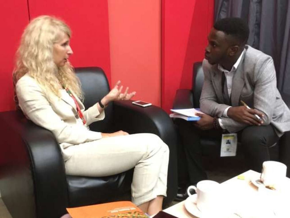 Business Insider SSA editor, David I. Adeleke, interviewing Jennifer Blanke, Vice-President Agriculture, Human and Social Development, AfDB