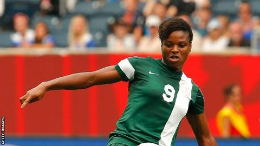 Desire Oparanozie scored Nigeria's first goal in their 4-0 win over Zambia on Wednesday.