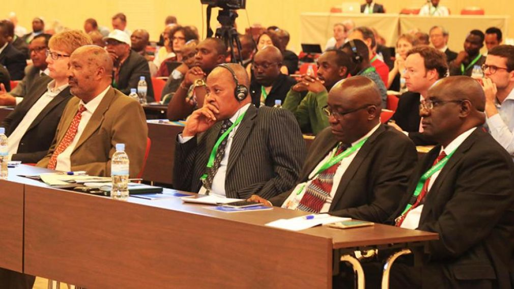Delegates follow a presentation during the seventh African Geothermal Conference in Kigali.