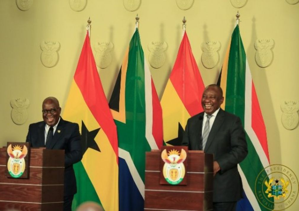 President Akufo-Addo and Cyril Ramaphosa