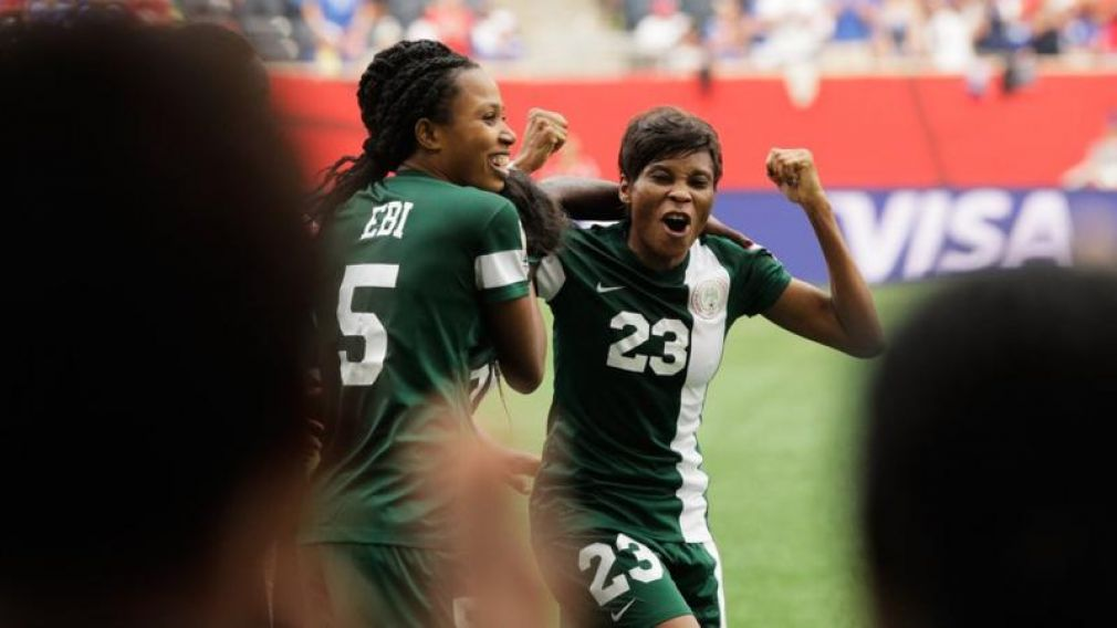 Nigeria's Ngozi Ebere fired home the decisive spot-kick against Cameroon