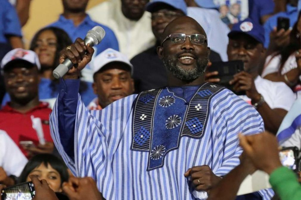 "Facing a ""broke"" country, Liberia's Weah cuts his own salary"
